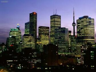 Buildings City Night Falls Over Toronto Ontario picture nr 20600