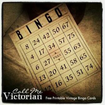 Printable Vintage Bingo Cards Call Me Victorian