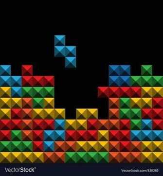 Tetris Background Tiles Vector Images 34