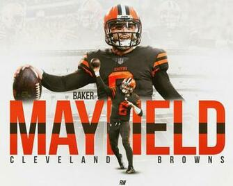 Baker Mayfield Cleveland Browns Graphic on Behance Sports Ad