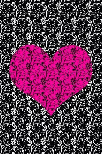 Pinkblack heart Backgrounds Pinterest