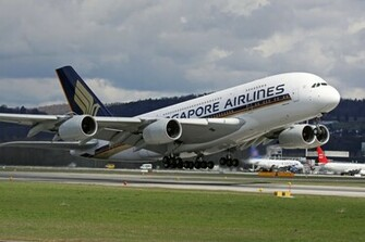 Airbus A380 Takeoff Singapore Airlines Aircraft Wallpaper 2155