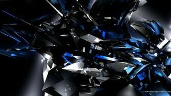 3D Wallpaper 3D blue crystals 1920 x 1080