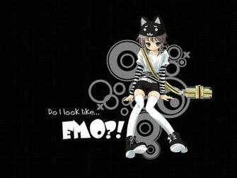 Gallery For gt Cute Emo Cartoon Wallpaper