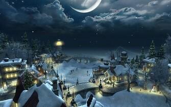 Christmas Scenery   Christmas Night