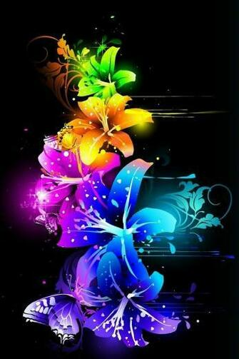 Cool Colorful Neon Backgrounds Design Phone wallpapers