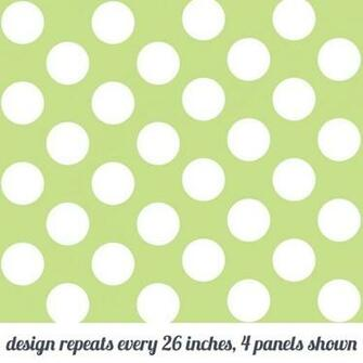 Polka Dot Green Temporary WallPaper WallCandy Arts