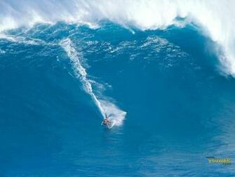 Surfing a Giant Wave Desktop Wallpaper and make this wallpaper for