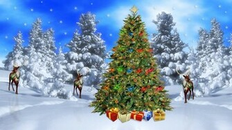 Christmas Desktop Wallpapers Christmas Winter Scene Wallpapers