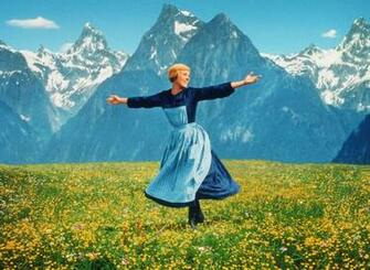 Andrews fills the hills with the sound of music in the 1965 film