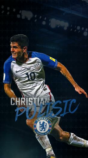 Christian Pulisic Phone Wallpaper on Behance