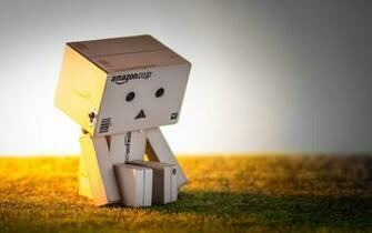 box amazon sad alone mood toy grass sunset sitting wallpaper