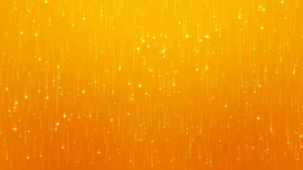 Abstract Particles Glitter on Orange Background Computer