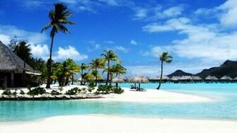 Tropical Beach Resort HD Wallpaper Tropical Beach Resort