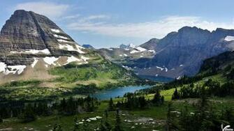 This Scene Can Only Be Find In Glacier National Park Wallpaper