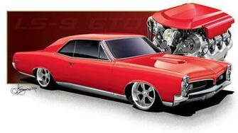 1967 Red LS9 Pontiac GTO wallpaper 1920x1080 36938 WallpaperUP