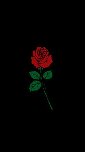 BLACK FLOWER ROSE Wallaper Background Tattoo Cellphone