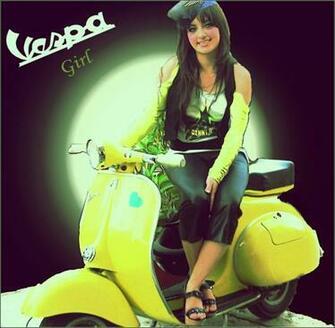 Vespa Girl by inkmlab