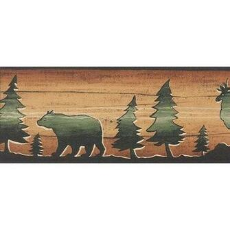 Bear Moose Elk Wallpaper Border