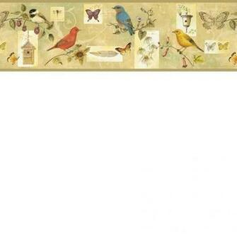 Brown CKB77942B Songbird Collage Wallpaper Border