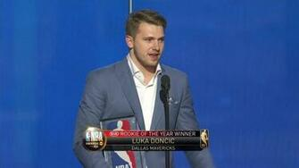 Luka Doncic wins the 2019 Rookie of the Year Award at the NBA