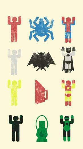 Cute Superheroes Wallpaper Minimal superheroes equation