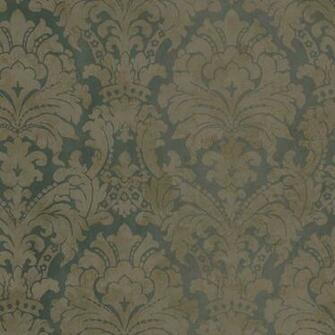 Dark Blue Copper HAV40847 Palace Damask Wallpaper