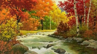 Beautiful Autumn Landscape Wallpaper Android 6742 Wallpaper computer