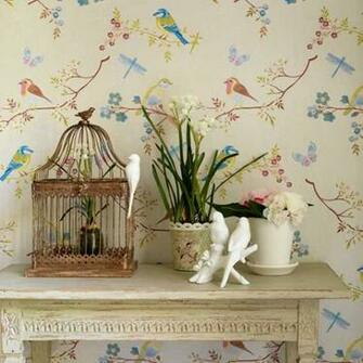 Trailing wallpaper Decorating ideas Design ideas Image