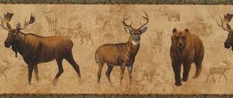 Wallpaper Border   Bear Moose Elk NM6633B