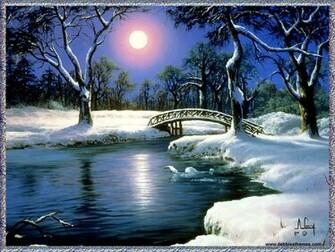 Winter Moon Wallpaper   Christmas Photography Desktop Wallpapers