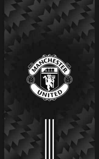 Manchester United 20172018 Away Black Android Wallpaper
