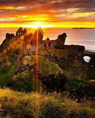 Dunluce Castle SunsetNorthern Ireland Nature