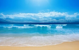 Blue Ocean Wallpaper 2560x1600 Blue Ocean Clouds Landscapes Nature