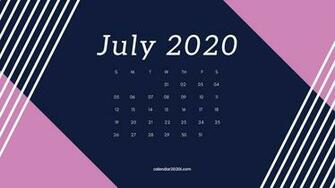 July 2020 Calendar Desktop Wallpaper in 2019 Calendar Printable