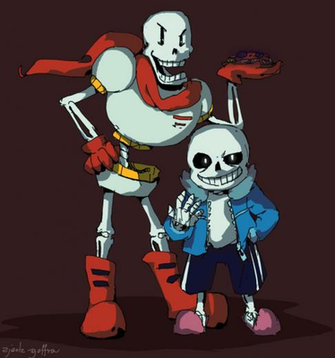 Undertale Papyrus and Sans by zjedz goffra