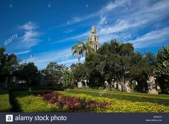 Alcazar Garden California Tower in Background Balboa Pack San