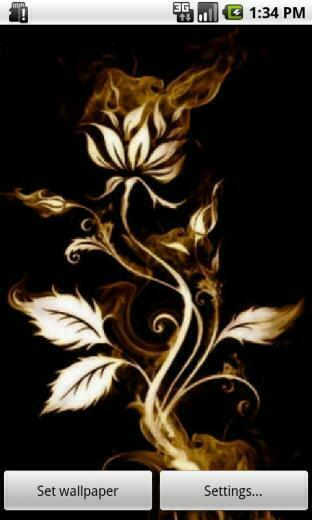 Download Rose On Fire Live Wallpaper for your Android phone