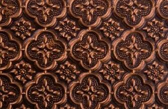 Backsplash Roll   PVC   1 14 Pattern   Antique Copper wallpaper