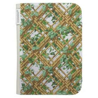 Dense ivy and trellis pattern wallpaper 1853 1859 kindle cases