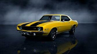 chevrolet camaro z28 gran turismo 5 yellow hd wallpaper Car Pictures