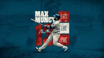 Max Muncy WS Stats Desktop Wallpaper Dodgers