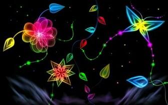 Neon Light Flower