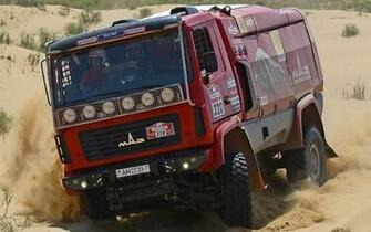 MAZ 5309RR RACE RACING SEMI TRUCK 4X4 OFFROAD Wallpaper 110626