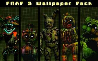 FNAF 3 Wallpaper Pack by xquietlittleartistx