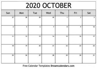October 2020 Calendar Wallpapers   Top October 2020 Calendar
