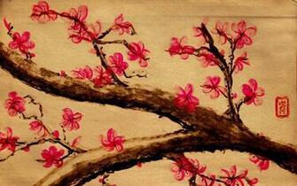 cherry blossom illustration wallpaper mount fuji fuji san wallpaper