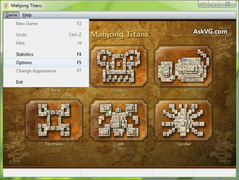 Debug Menu in Microsoft Mahjong Game in Windows Vista and 7