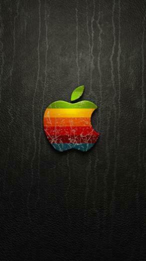 3D Vintage Apple Logo Wallpaper   iPhone Wallpapers