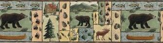 Jensen Lodge Bears Moose Wallpaper Border BA7016B eBay